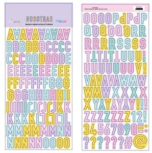 Alfabeto chipboard Nosotras de The Mint Feather