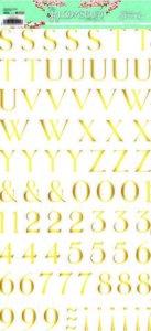 Alfabeto con foil The Bloomsbury de Alberto Juárez