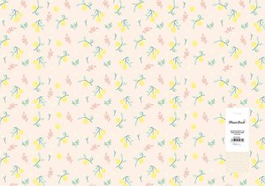Papel para forrar Limones Miami Peach de The Mint Feather