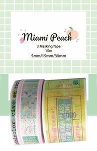 Washi Tape Miami Peach de The Mint Feather