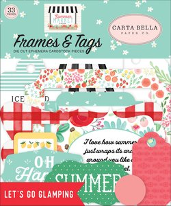 Die Cuts Frames & Tags Carta Bella Summer Market