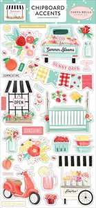 "Chipboard iconos 6x12"" Carta Bella Summer Market"