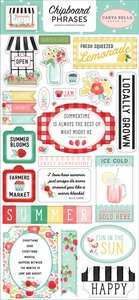 "Chipboard frases 6x12"" Carta Bella Summer Market"