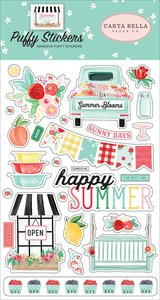 Pegatinas puffy Carta Bella Summer Market