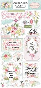 """Chipboard iconos 6x12"""" Carta Bella Flora n3"""
