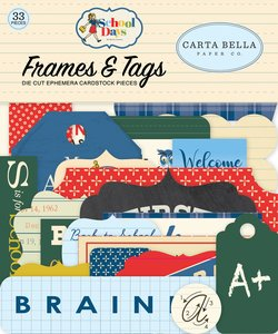 Die Cuts Frames & Tags Carta Bella School Days