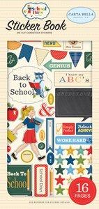 Libreto de pegatinas Carta Bella School Days