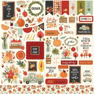 "Pegatinas 12x12"" Carta Bella Hello Autumn"