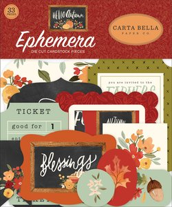 Die Cuts Carta Bella Hello Autumn