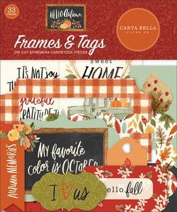 Die Cuts Frames & Tags Carta Bella Hello Autumn