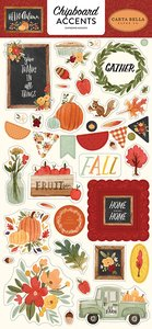 "Chipboard iconos 6x12"" Carta Bella Hello Autumn"