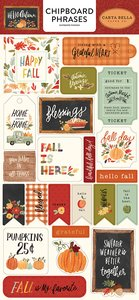 "Chipboard frases 6x12"" Carta Bella Hello Autumn"