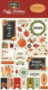 Pegatinas puffy Carta Bella Hello Autumn