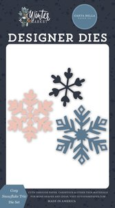 Troqueles Carta Bella Winter Market Cozy Snowflake