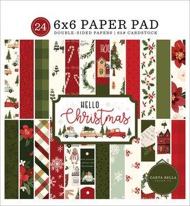 "Pad 6x6"" Carta Bella Hello Christmas"