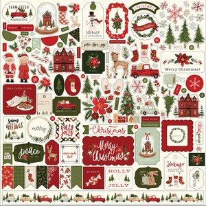 "Pegatinas 12x12"" Carta Bella Hello Christmas"