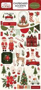 """Chipboard Iconos 6x12"""" Carta Bella Hello Christmas"""