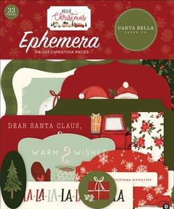 Die Cuts Carta Bella Hello Christmas