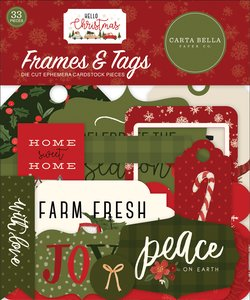 Die Cuts Frames & Tags Carta Bella Hello Christmas