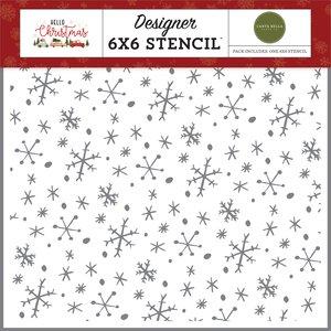 Máscara Carta Bella Hello Christmas Wonderland Snowflakes