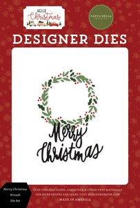 Troqueles Carta Bella Hello Christmas Wreath