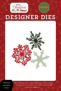 Troqueles Carta Bella Hello Christmas Whimsical Snowflakes