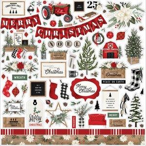 """Pegatinas 12x12"""" Carta Bella Farmhouse Christmas"""