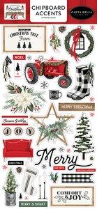 "Chipboard Iconos 6x12"" Carta Bella Farmhouse Christmas"