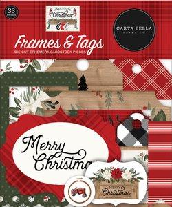 Die Cuts Frames & Tags Carta Bella Farmhouse Christmas