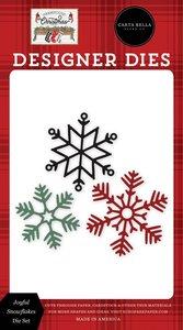 Troqueles Carta Bella Farmhouse Christmas Joyful Snowflakes