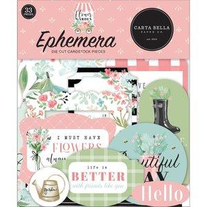 Die Cuts Carta Bella Flower Garden Ephemera