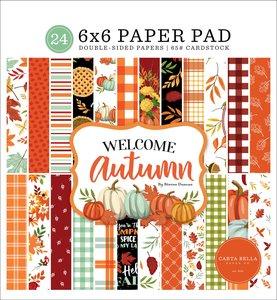 "Pad 6x6"" Carta Bella Welcome Autumn"