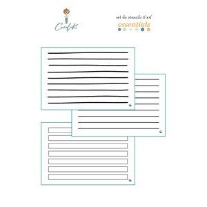 """3 Stencils 6x4"""" Journaling Essentials de Cocoloko"""
