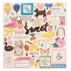 "Chipboard 12""x12"" Sweet Story"