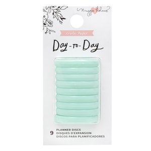 Mini Anillas de disco para planners Maggie Holmes Day to Day Mint