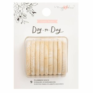 Anillas de disco para planners Maggie Holmes Day to Day Wood