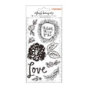 Set de sellos acrílicos Fresh Bouquet