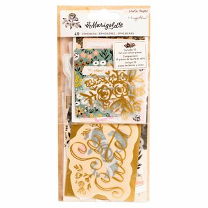 Die Cuts cartulina y vellum con foil Marigold