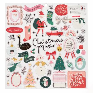 "Chipboard 12x12"" Hey Santa"