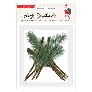 Set con hojas de pino Hey Santa 8 pcs