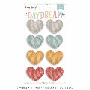 Corazones de tela mullidos Cocoa Vanilla Daydream
