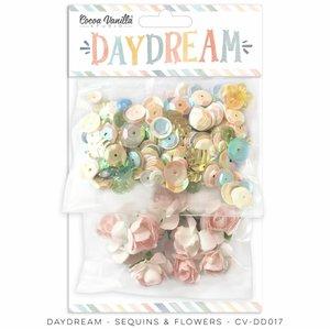Lentejuelas y flores Cocoa Vanilla Daydream