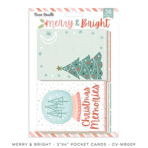 """Pad de tarjetas 3x4 """" Cocoa Vanilla Merry & Bright"""