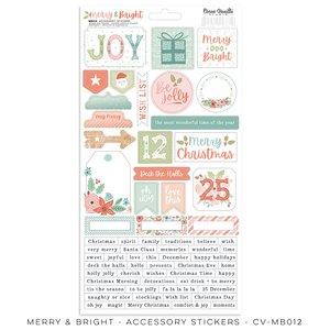"Pegatinas 6x12 "" Cocoa Vanilla Merry & Bright"