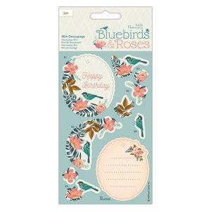 Pretroquelados 2 hojas Docrafts Bluebirds & Roses Birds