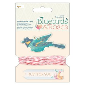 Die Cuts Tags & Twine Docrafts Bluebirds & Roses
