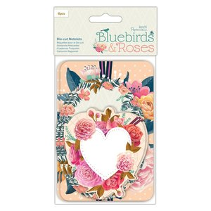 Die Cuts Noteletes Docrafts Bluebirds & Roses
