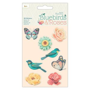 Pegatinas 3D Docrafts Bluebirds & Roses