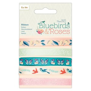 Set de cintas decoradas Docrafts Bluebirds & Roses