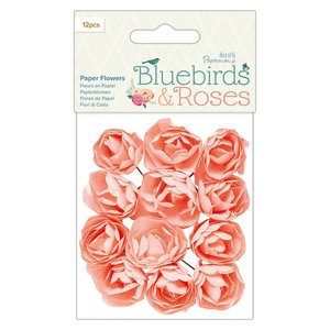 Rosas de papel Docrafts Bluebirds & Roses